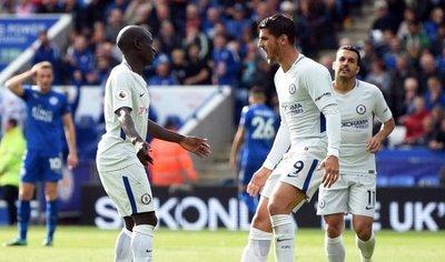 Morata lidera la victoria del Chelsea ante Leicester