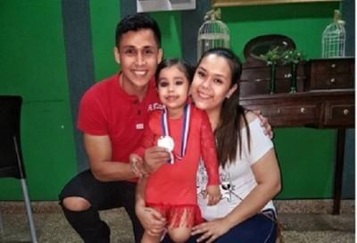 La hija de Coco Bordón ya es campeona en danza