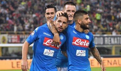 El Napoli se hace fuerte de visitante y golea a Bologna