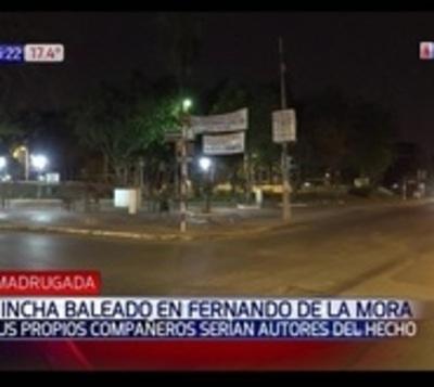 Balearon  a un hincha en Fernando de la Mora