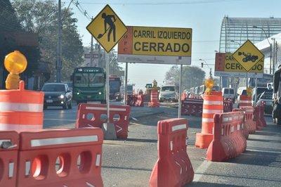 Habilitan nuevos desvíos para zona de obras del metrobús