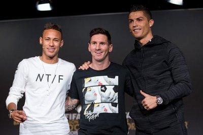Messi, CR7 y Neymar, por el The Best