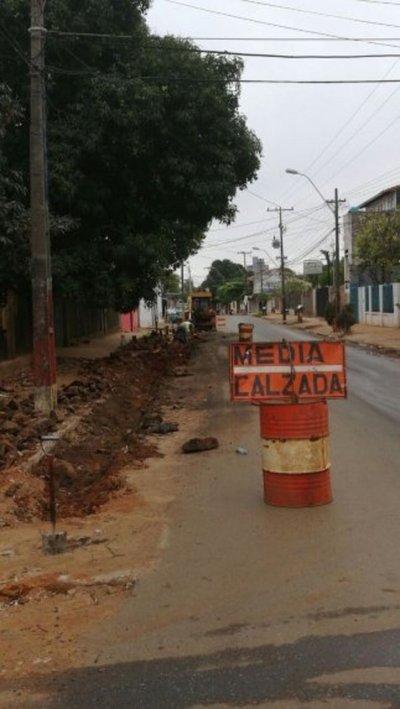 Obras lentas en Fernando de la Mora