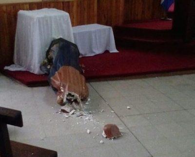 Dejan sin cabeza a la Virgen de los Dolores