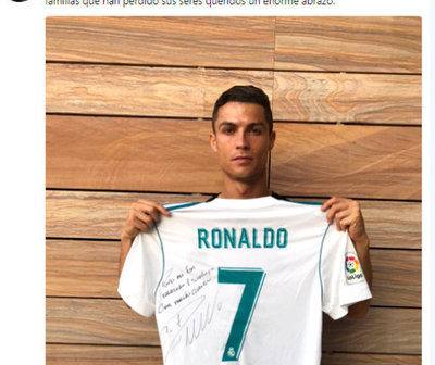 Cristiano Ronaldo brinda su apoyo a la familia de un niño que murió tras el terremoto