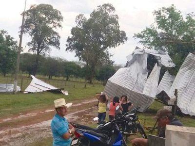 San Pedro: varias casas quedaron sin techo