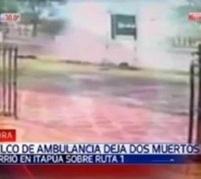 Ya son dos los fallecidos tras accidente de ambulancia en Itapúa