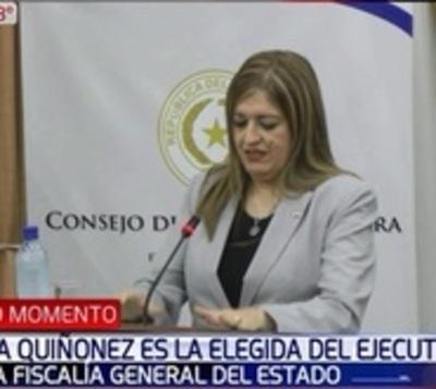 Cartes elige a Sandra Quiñonez para fiscal general del Estado