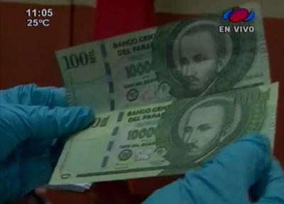 Detienen a sospechoso de falsificar billetes