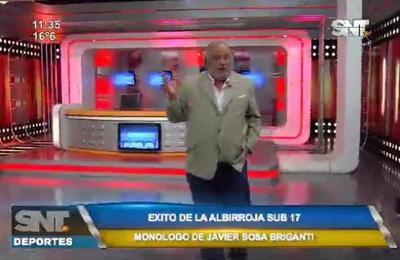 Monólogo de Javier Sosa Briganti en SNT Deportes