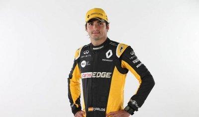 Carlos Sainz luce los colores de Renault