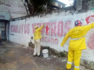 Municipalidad de Asunción inicio retiro de propaganda proselitista extemporánea