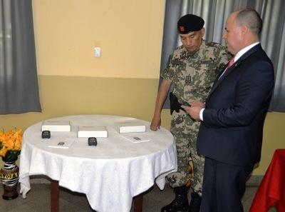 Entregan detectores de radiación al Regimiento Escolta Presidencial