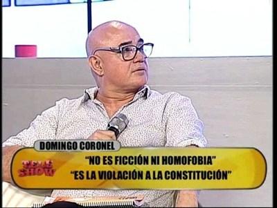 Le preguntaron a Domingo Coronel que haría si su hija es lesbiana