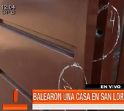 Dispararon 15 veces contra vivienda en San Lorenzo