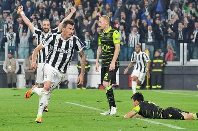 Juve remonta al Sporting con gol de Mandzukic