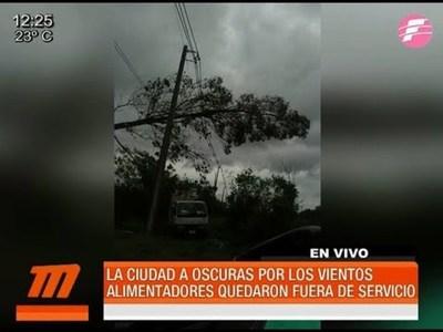 Tormenta dejó sin energía eléctrica a varias ciudades