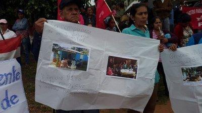 Marcha a favor de Genaro Meza en Yasy Cañy