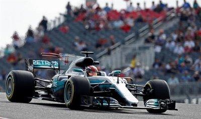 Hamilton fue dominante en las pruebas libres de Austin