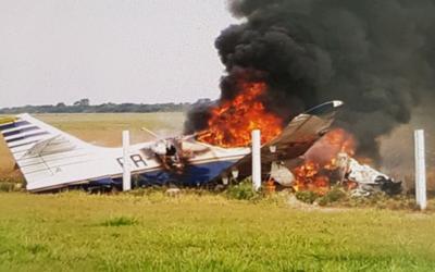 Avioneta cayó y dejó dos heridos