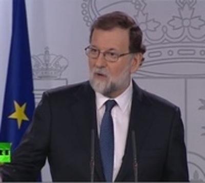 Rajoy anuncia el cese del Gobierno Catalán