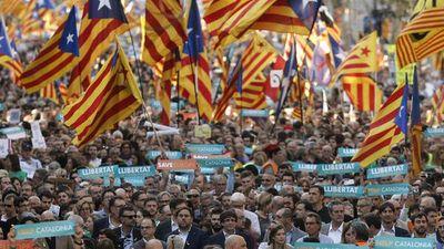Unas 450.000 personas en la manifestación independentista de Barcelona