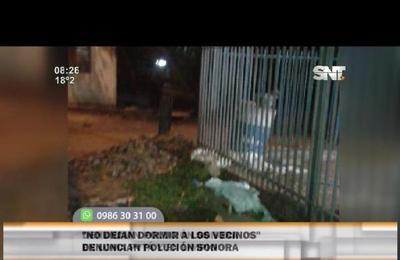 Vecinos denuncian ruidos molestos en Loma Pytá