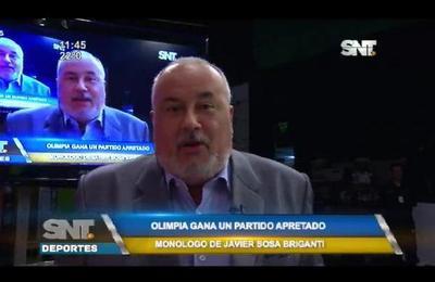 Monólogo de Javier Sosa Briganti para Olimpia