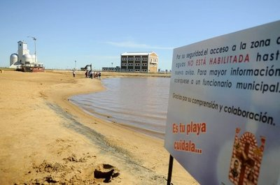 Playas de Encarnación no están habilitadas