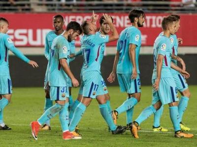 Barcelona golea a Murcia por la Copa del Rey