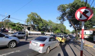 Eliminan giros a la izquierda sobre Mcal. López