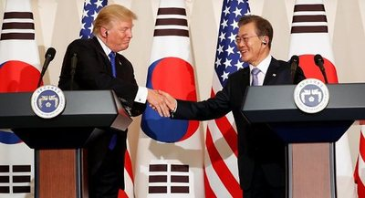 Trump dice que 'no pasará por alto' a Corea del Sur