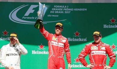 Vettel gana en Interlagos y acaricia el subcampeonato