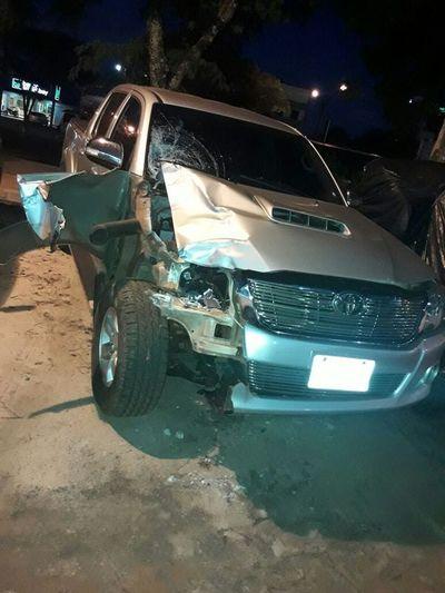 Transeúnte fue arrollado por una camioneta