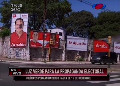 Luz verde a propagandas electorales