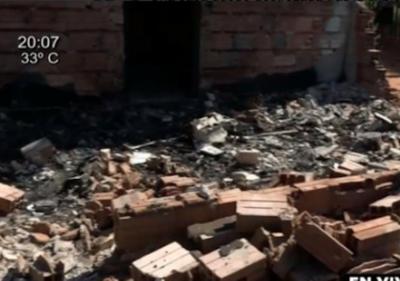 Explosión de garrafa hace desaparecer a una vivienda
