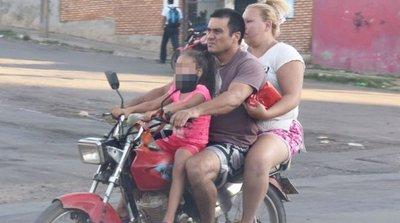 Tres niños por día se accidentan en moto