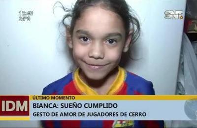Niña fanática del Cerro Porteño cumple un sueño