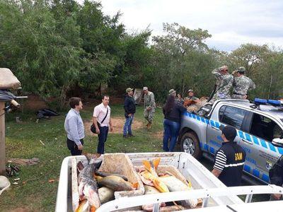 Control por veda: en allanamiento Fiscalía requisa 500 kilos de pescados
