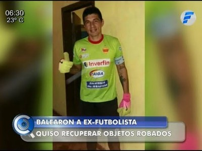 Ex arquero de la selección paraguaya fue baleado