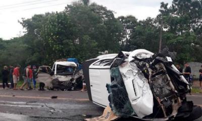 Un muerto en triple accidente en Caacupé