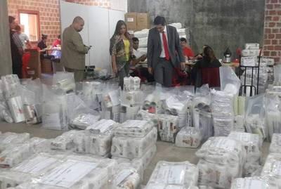 Justicia Electoral y TEP de ANR coordinan la distribución de kits para internas