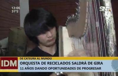 Orquesta de Reciclados se prepara para salir de gira