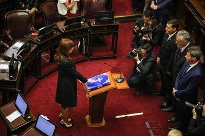 Cristina juró como senadora