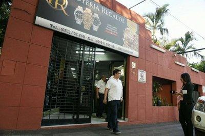 Asaltan una joyería en Asunción