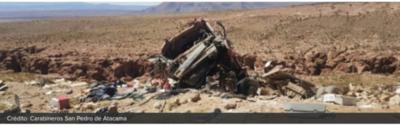 Un fallecido al volcar camión paraguayo en zona desértica de Chile
