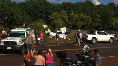 Avioneta cae en Itapúa