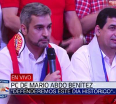 "Abdo Benítez: ""Habrá resultados contundentes e inapelables"""