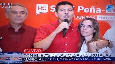 Peña asume derrota