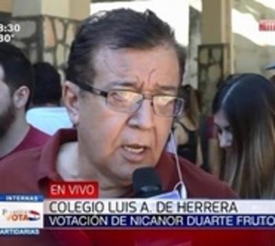 Caso González Daher repercutirá en el voto, afirma Nicanor